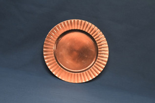 bronze ripple charger plate