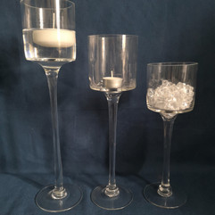 clear stem goblets
