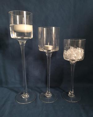 clear stem goblets