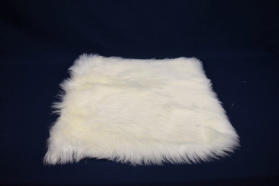 square white faux fur