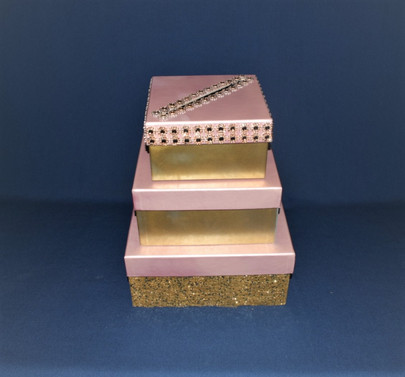 gold and pink bling cardbox