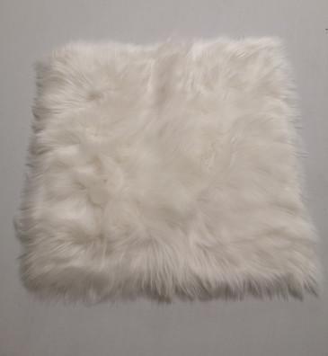 white square faux fur