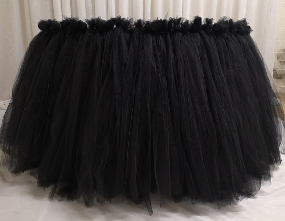 black tulle skirting