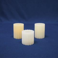 pillar candles ribbed