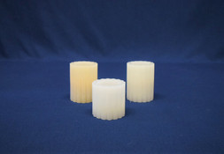 pillar candles ribbed