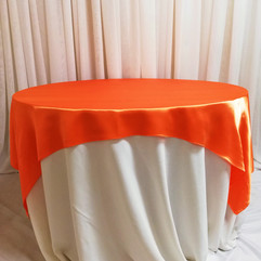 orange satin overlay