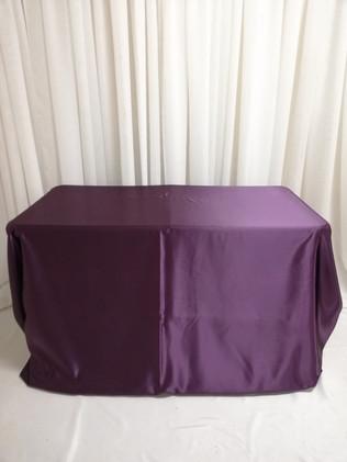 eggplant rectangular satin tablecloth