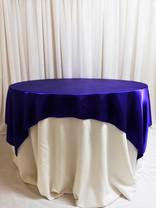 purple satin overlay