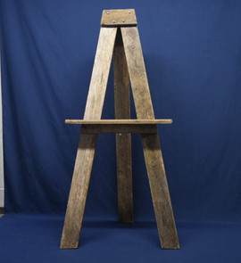 rustic wooden easel