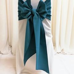 teal chair tie