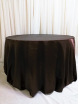 brown satin tablecloth