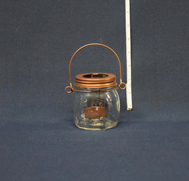 small mason jar candleholder