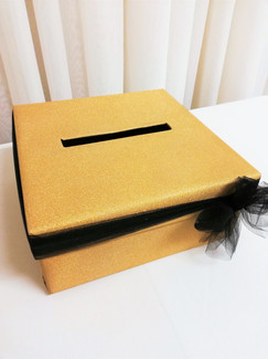 gold sparkle cardbox