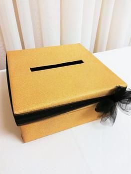 gold sparkle cardbox