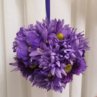 purple daisy flower ball
