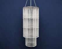 clear teardrop chandelier
