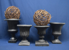 black urns