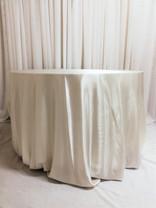 white satin tablecloth