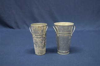 galvanized tall vase