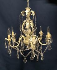 beige vintage gem chandelier