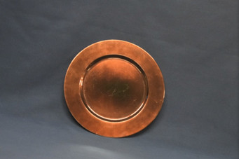 bronze charger plate