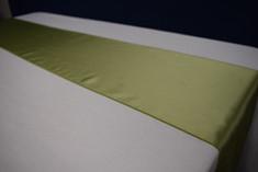 celery green satin runner