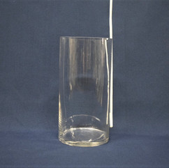 clear oval cylinder vase 12 x 6