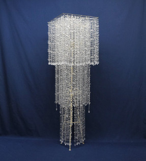 xl square clear beaded chandelier