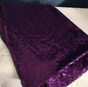 purple sequin linen