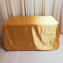 gold rectangular satin tablecloth