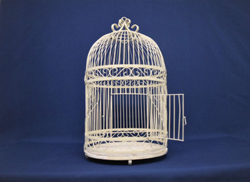 cream birdcage cardbox