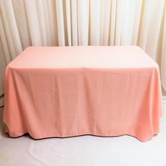 blush pink tablecloth