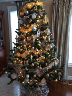 gold and silver tree
