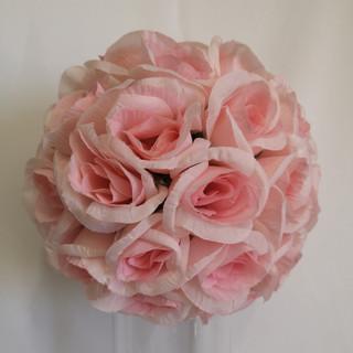 blush pink flower ball