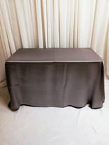 grey rectangular satin tablecloth