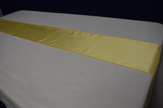 yellow runner or chair tie