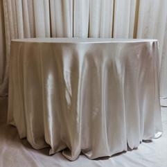 ivory satin tablecloth