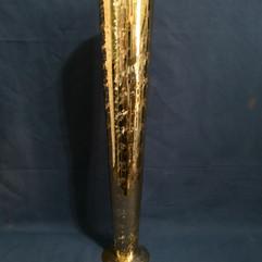 gold flute vase