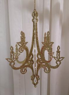 gold 3D chandelier