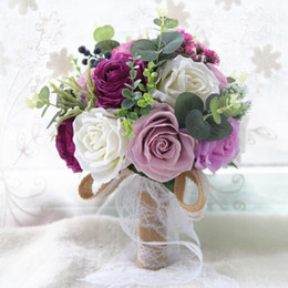 aubergine and  dusty rose bouquet