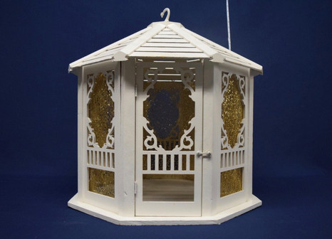 white gazebo cardbox
