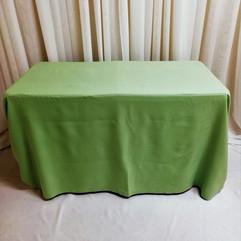 sage green tablecloth