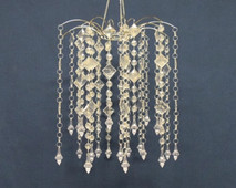 clear chandelier small