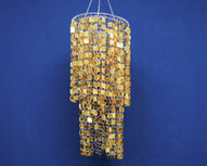 gold bling chandelier