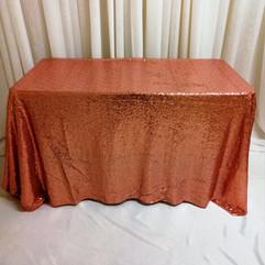 pink sequin rectangular tablecloth