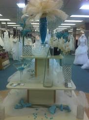 wedding white / teal