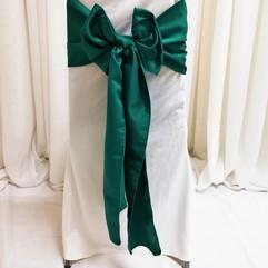 shamrock green satin chair tie