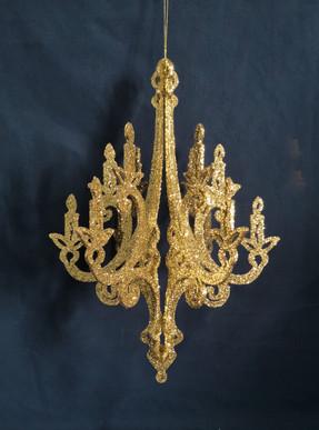 large gold vintage chandelier
