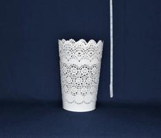 large white lace bucket