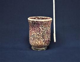 pink mosaic vase